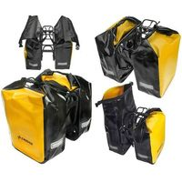 Sakwy, torby i plecaki rowerowe, Zestaw sakw wodoodpornych Crosso na tył Dry Big 60 l żółty