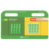 Akumulatorki, 8 x akumulatorki R03/AAA GP ReCyko+ 950 Series 950mAh + box