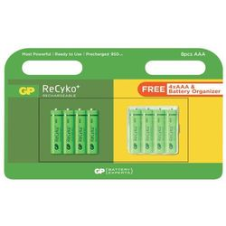8 x akumulatorki R03/AAA GP ReCyko+ 950 Series 950mAh + box
