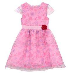 Sukienka dziewczęca na uroczyste okazje z kwiatowym nadrukiem bonprix jasnoróżowy