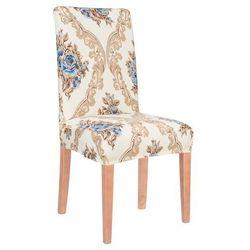 Pokrowiec na krzesło uniwersalny kremowy glamour