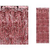Zasłony, Kurtyna - zasłona na drzwi metaliczna czerwona - 2,4 m x 91 cm