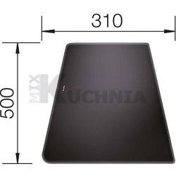 Deska BLANCO ze szkła hartowanego satynowanego czarna 500x310x16mm (224525)