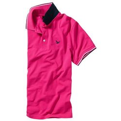 Shirt polo Regular Fit bonprix ciemnoróżowy