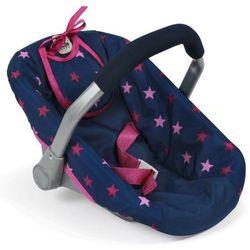Bayer Chic fotelik samochodowy dla lalki, różowo-niebieskie gwiazdy