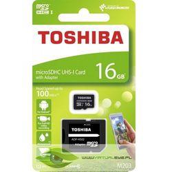 Karta pamięci z adapterem MicroSDXC Toshiba 16GB Class 10 THN-M203K0160EA