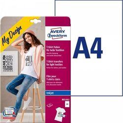 Folie do wprasowywania na jasne tkaniny A4 10ark./op. białe Avery Zweckform