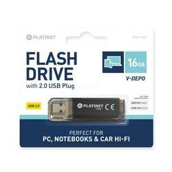 Pendrive Platinet 16GB V-Depo Black