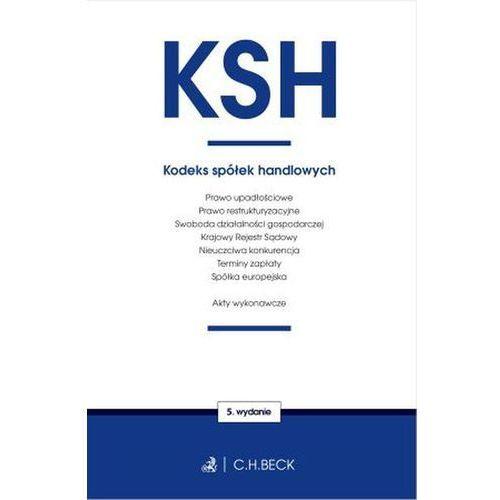 Książki prawnicze i akty prawne, Kodeks spółek handlowych oraz ustawy towarzyszące (opr. miękka)