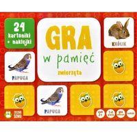 Gry dla dzieci, Rosnę i Poznaję Gra w pamięć Zwierzęta - Zielona Sowa