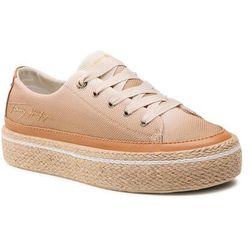 Espadryle TOMMY HILFIGER - Gradient Sunset Vulc Sneaker FW0FW05537 White Dove AF2