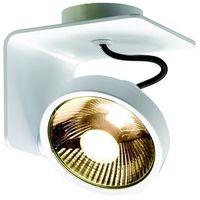 Lampy sufitowe, Spot LAMPA sufitowa JERSY 70070101 Kaspa metalowa OPRAWA natynkowa REFLEKTOR minimalistyczny regulowany biały