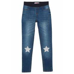 Spodnie dresowe z nadrukiem bonprix czarno-biały