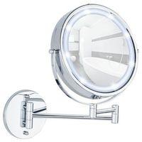 Pozostałe akcesoria do łazienek, Naścienne lusterko kosmetyczne Power-Loc LUMI z podświetnielniem LED, powiększenie x5, WENKO