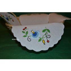 Serwetka haftowana do koszyczka - haft kaszubski (zcz-1)
