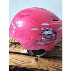 UVEX kask narciarski dziecięcy Manic - pink snow bunny (46-50 cm)