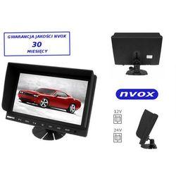 "NVOX HM942 Monitor samochodowy lub wolnostojący LCD 9"" cali z obsługa do 2 kamer 4PIN 12V 24V"
