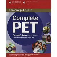 Książki do nauki języka, Complete PET Student's Book (podręcznik) without Answers with CD-ROM (opr. miękka)