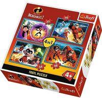 Puzzle, Puzzle 4w1 Iniemamocni 2, Niesamowita rodzinka - DARMOWA DOSTAWA OD 199 ZŁ!!!