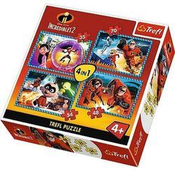 Puzzle 4w1 Iniemamocni 2, Niesamowita rodzinka - DARMOWA DOSTAWA OD 199 ZŁ!!!