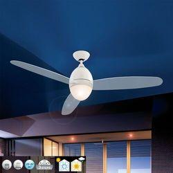 Biały wentylator sufitowy PREMIER, 132 cm