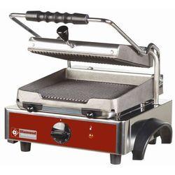 Grill kontaktowy żeliwny pojedyńczy ryflowany   225x255mm   1800W