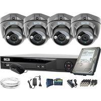 Pozostałe systemy alarmowe, ZM11952 Do rozbudowy monitoring 4 kamery BCS-DMQE1500IR3-G BCS-XVR08014KE-II 1TB