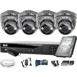 ZM11952 Do rozbudowy monitoring 4 kamery BCS-DMQE1500IR3-G BCS-XVR08014KE-II 1TB