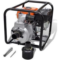 vidaXL Spalinowa pompa wodna, przyłączenie 80 mm, 6,5 KM Darmowa wysyłka i zwroty