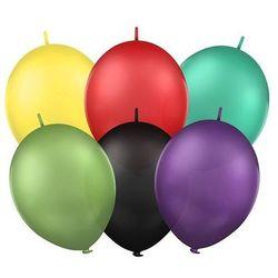 Balony lateksowe gładkie z łącznikiem 12 cali - mix - 25 szt.
