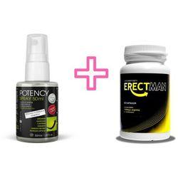 Mega Zestaw na Erekcję Erectman 60 kaps. + Spray Potency 150ml | 100% DYSKRECJI | BEZPIECZNE ZAKUPY RABAT -20%