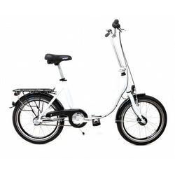Aluminiowy rower składany SKŁADAK niska rama MIFA 3 biegi Nexus SHIMANO prądnica biały
