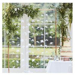 Dekoracja wisząca kwiatowa biała - 180 cm - 10 szt.