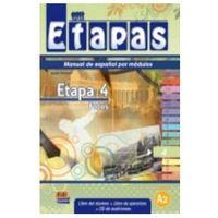 Książki dla dzieci, Etapas 4 Podręcznik + ćwiczenia + CD audio (opr. miękka)