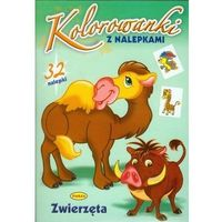 Książki dla dzieci, Kolorowanki z nalepkami. Zwierzęta (opr. miękka)