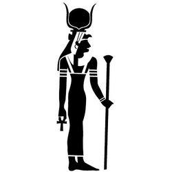 Szablon malarski z tworzywa, wielorazowy, wzór etniczny 26 - egipska bogini Hathor