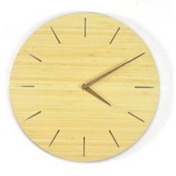 Woodway Clock - Simplis - Zegar ścienny Bambus