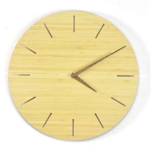 Zegary, Woodway Clock - Simplis - Zegar ścienny Bambus