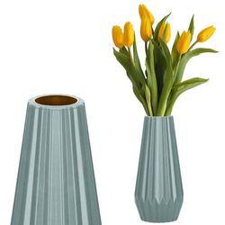 Wazon 21cm nietłukący na kwiaty do salonu, kuchni miętowy nowoczesny