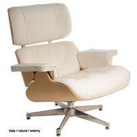 Fotele, Biały fotel VIP ze srebrną bazą