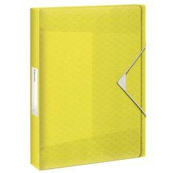 Teczka plastikowa na gumkę Esselte colour ice poszerzana A4 kolor: żółty (626262)
