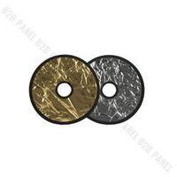 Blendy fotograficzne, GlareOne Blenda 2w1 srebrno złota, 30cm, z otworem