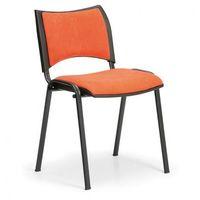 Fotele i krzesła biurowe, Krzesła konferencyjne SMART - czarne nogi, bez podłokietników, pomarańczowy