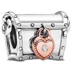 Rodowany srebrny charms do pandora skrzynia skarbów treasure chest srebro 925 CHARM210