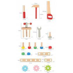 Drewniany Warsztat z narzędziami 48 elementów