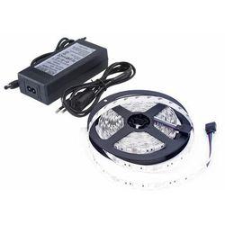 Zestaw taśma LED+zasilacz 12V 24W DC2835 300LED/5m IP65 biała ciepła D87-ZW-2835-300-IP65-AWW
