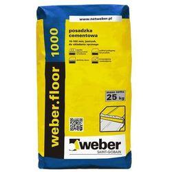 Weber optiroc 1000 25kg posadzka cement., 10-100mm