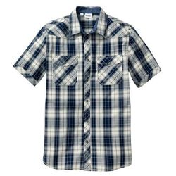 Koszula z krótkim rękawem Regular Fit bonprix naturalno-ciemnoniebieski