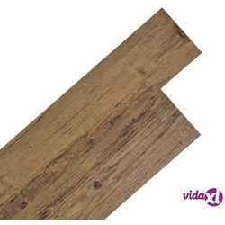 vidaXL Samoprzylepne panele podłogowe z PVC, 5,02 m², orzechowy brąz Darmowa wysyłka i zwroty