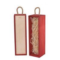 Ozdobne pudełka, V1 skrzynka upominkowa czerwona/natural